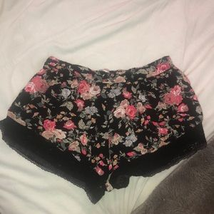 UO lace floral shorts